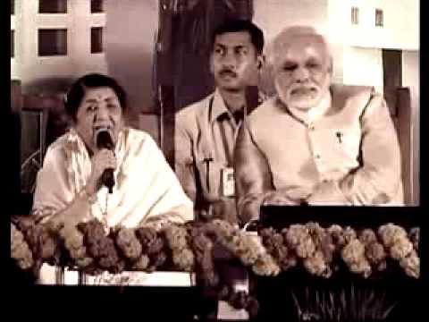 Ek Tu Hi Bharosa..Lataji's Support For Narendra Modi