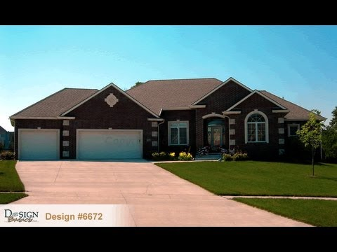 Design 6672 the bayberry traditional styled 1 story house for Large one story homes