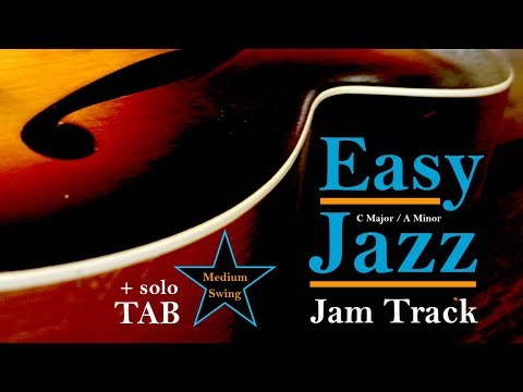 Easy Jazz Backing Jam Track - C Major / A Minor