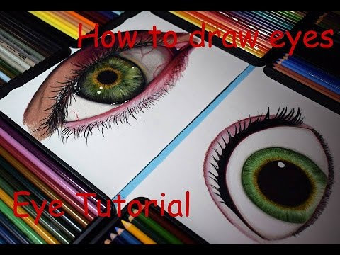 how to draw eye colored pencil