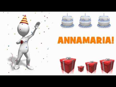 Joyeux Anniversaire Annamaria Youtube