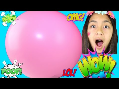 Popping HUGE Balloons -TOYS SURPRISES Balloons Inside Balloon |B2cutecupcakes
