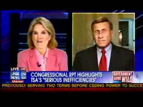 Chairman John Mica on Fox News with Greta to Discuss TSA Waste & Abuse of Taxpayer Dollars