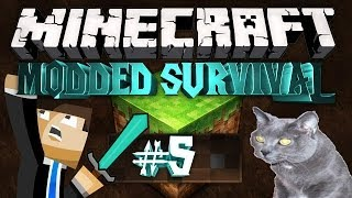 """Minecraft: MADPACK SURVIVAL! #5 """"TROLLED BY MY CAT"""""""