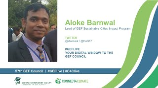 Aloke Barnwal interview on sustainable cities for GEF Live at the 57th GEF Council
