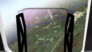 F sim SpaceShuttle good Landing HUD View
