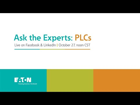 Ask the Expert PLCs Session 1: LIVE on Facebook and LinkedIn Oct 27, 2020