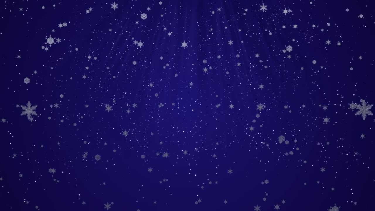 Falling Snow Animated Wallpaper Christmas Snow Flakes And Stars Motion Graphics Holiday