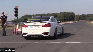 BMW F82 and F83 M4gts Drift and Burnout - Drag Race and Exhaust Sound - Speed Cars