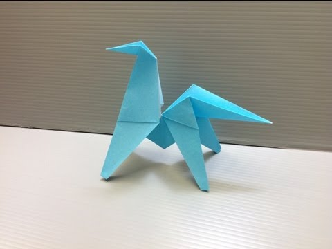 Daily Origami: 090 - Flipping Horse