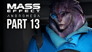 MASS EFFECT ANDROMEDA Walkthrough Part 13 - RETURNING TO THE NEXUS & EOS (Female) Full Game