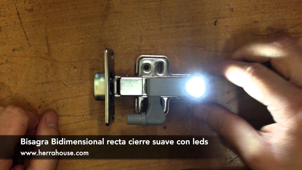 Bisagra bidimensional recta con leds para cocina closets - Tipos de bisagras ...