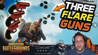 I FIRED 3 FLARE GUNS AT THE SAME TIME! 😈 CHAOS! PUBG Mobile
