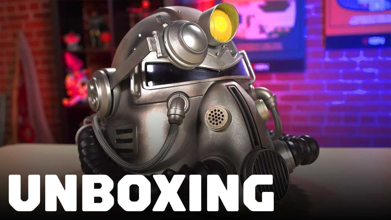 Fallout 76 Unboxing The Power Armor T 51 Helmet Edition Youtube
