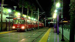 San Diego Trolley Action At Middletown Station