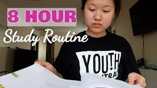 STUDYING FOR 8 HOURS?!! || MCAT STUDY VLOG