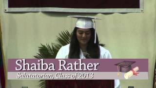 RHS Graduation 2013:  Daniel Michelson & Shaiba Rather Speeches