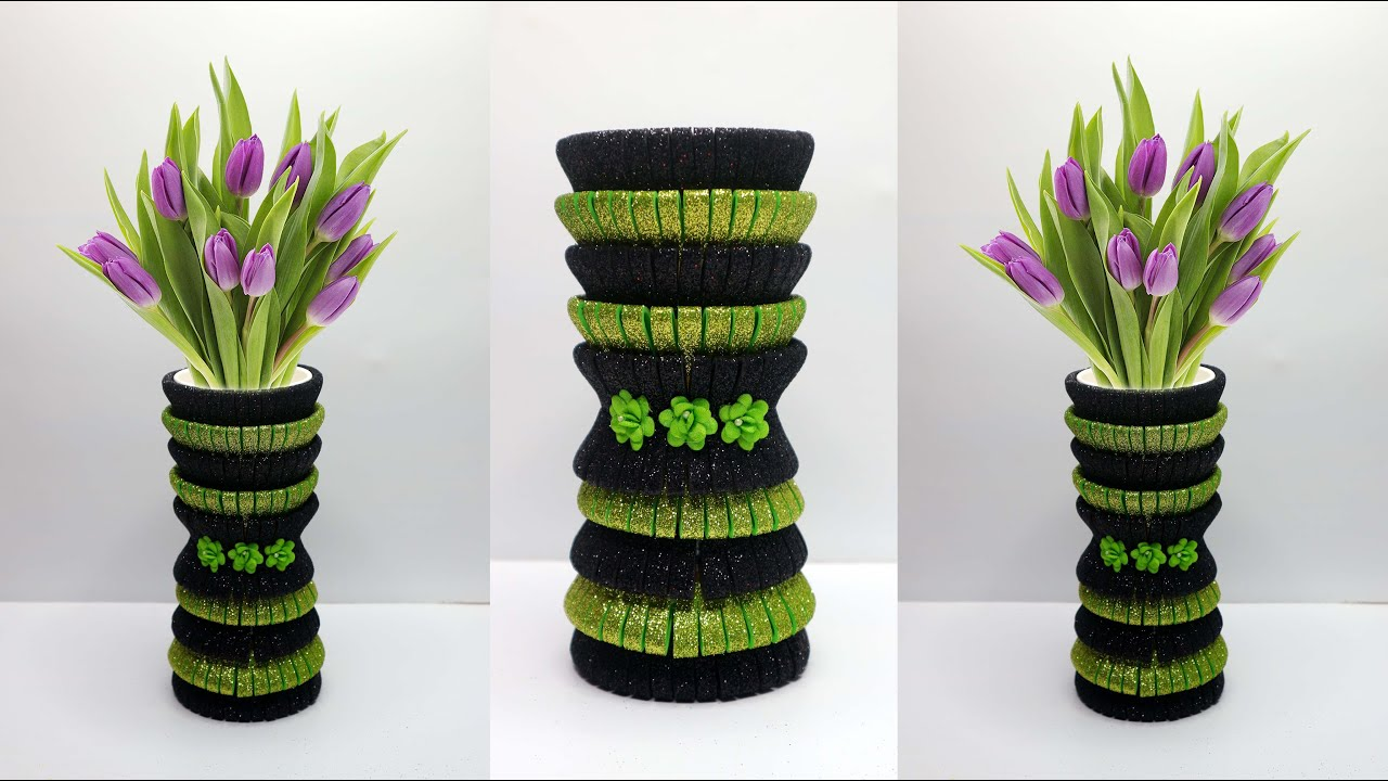 Ide Kreatif Vas Bunga Yang Sangat Mudah Dari Gelas Kertas Bekas Paper Glass Waste Ideas Youtube