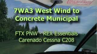 7WA3 West Wind to Concrete Municipal - FSX