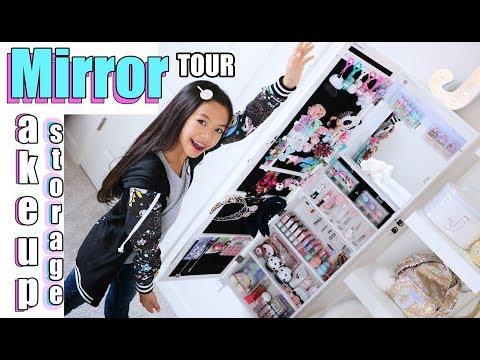 MIRROR STORAGE MAKEUP Vanity Tour