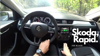 Skoda Rapid 1.0 TSI 70 kW (95 HP) | 4K POV Test Drive #100 Joe Black