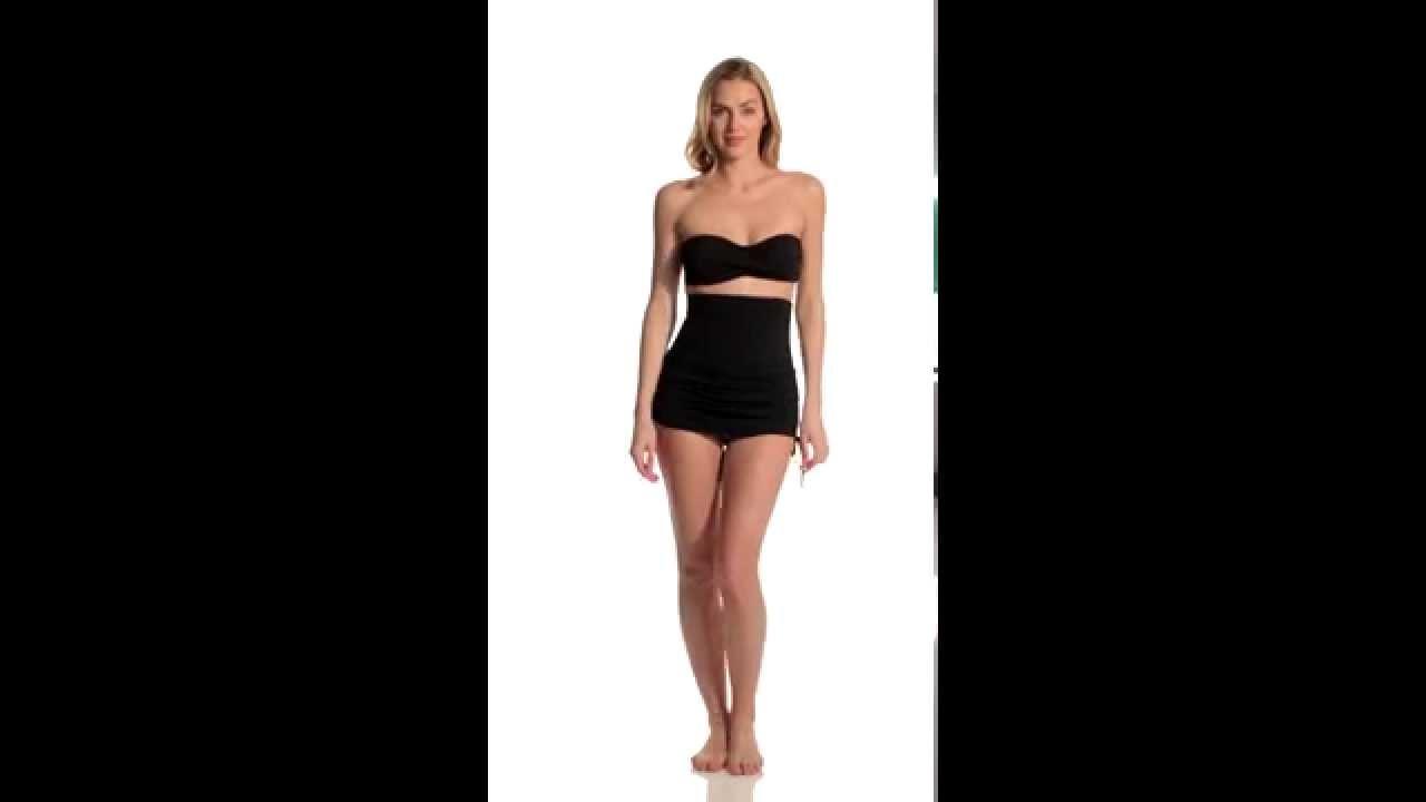 58ceceaec3ba4 Anne Cole Color Blast Solids Super High Waist Swim Skirt | SwimOutlet.com