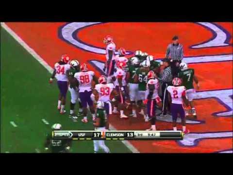 USF vs Clemson Meineke Car Care Bowl 2010 Highlights