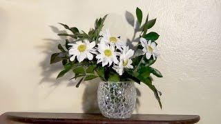 Vaso de flores e outras idéias com cola quente