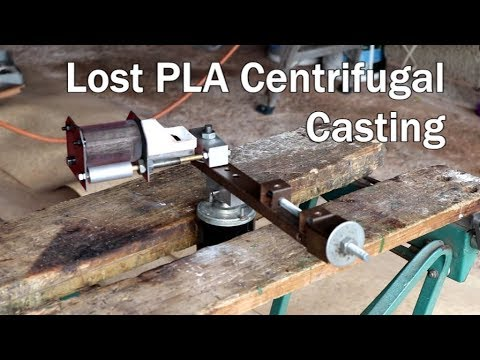 Metal Casting at Home Part 85 Centrifugal Casting Lost PLA