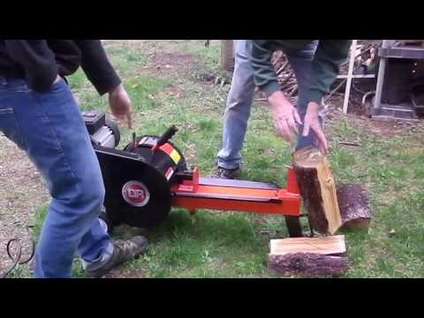 Trial Run of DR K10 Rapidfire electric log splitter
