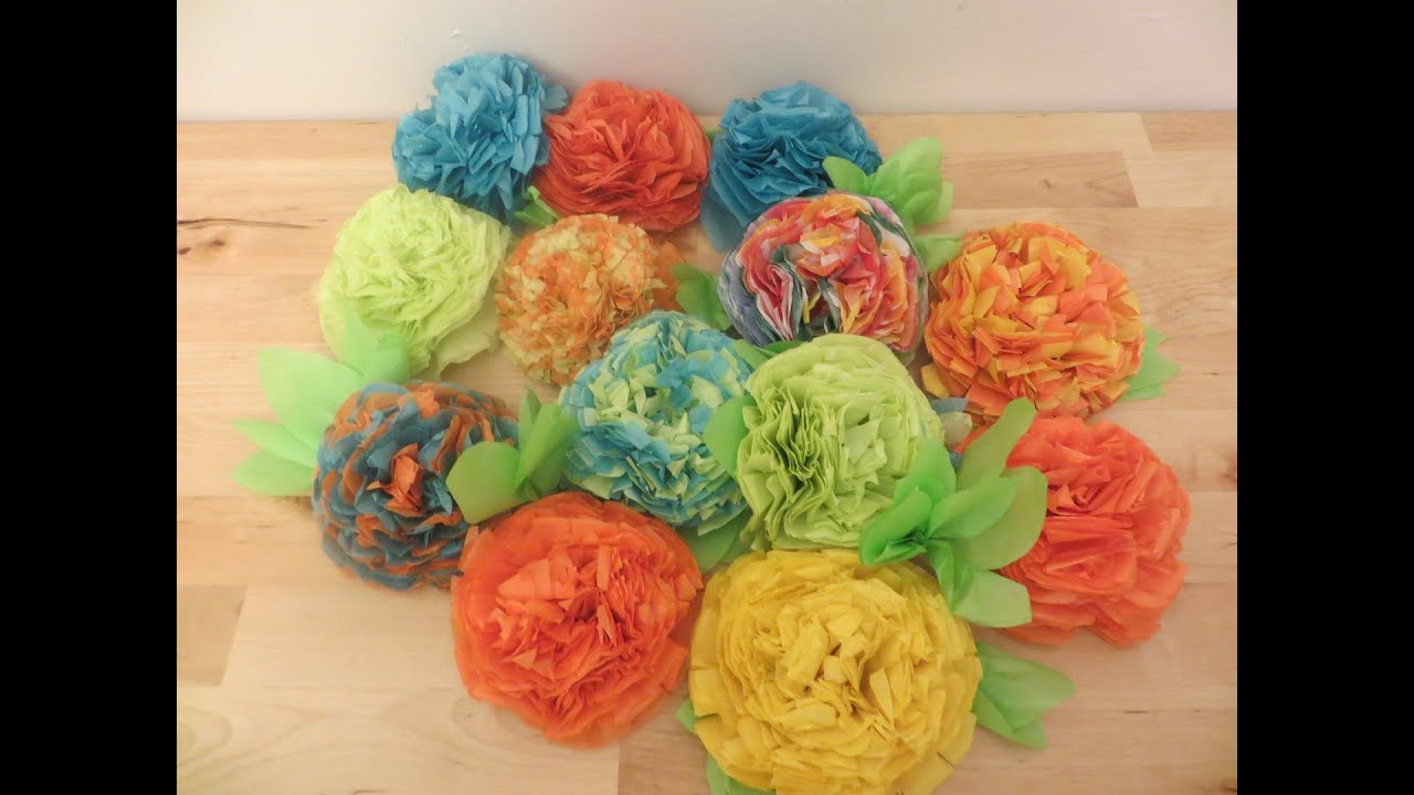 Retro Crafts Fun And Easy Diy Tissue Paper Flowers Tbt Youtube