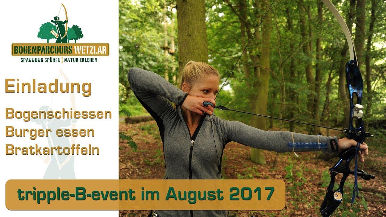 Einladung Tripple B Event Bogenschiessen Hessen 3D Bogenparcours  Kletterwald Wetzlar