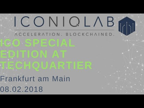 Iconiq Lab Presentation - Patrick Lowry (CEO)  - ICO Special edition at Techquartier, Frankfurt
