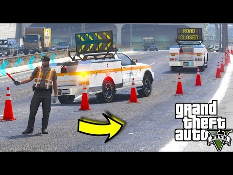 GTA 5 Mods - Brand New Message Board Utility Truck With Custom Working Messages & Arrows