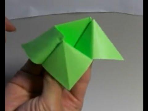 ハート 折り紙:カエルの作り方 折り紙-divulgando.net