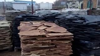 видео Забор из природного камня в Челябинске