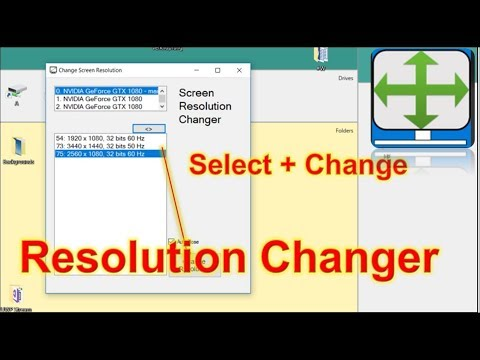 Resolution Changer,  Free Software for Windows Monitor Screens