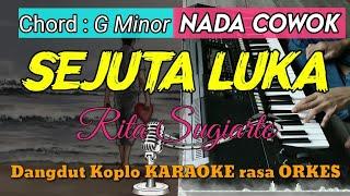 SEJUTA LUKA - Rita Sugiarto Versi Dangdut Koplo KARAOKE rasa ORKES Yamaha PSR S970