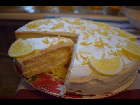 Лимонный торт // Лимонник // Торт быстро и вкусно