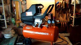Бытовой компрессор PATRIOT 24-240. Обзор(Бюджетный компрессор для дома и дачи., 2015-05-12T16:52:17.000Z)