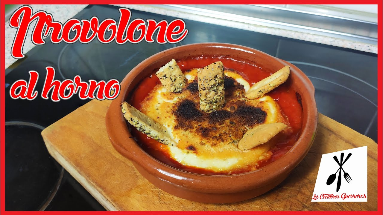 🧀 Queso PROVOLONE con tomate frito CASERO al horno //entrante o aperitivo facilón!