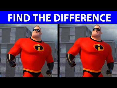 BET YOU CAN'T FIND THE DIFFERENCE! | 100% FAIL | INCREDIBLES 2 MOVIE PUZZLE