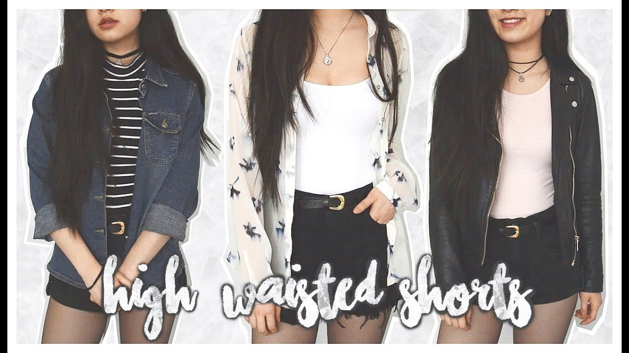 how i style ♡ high-waisted shorts // spring lookbook 2016