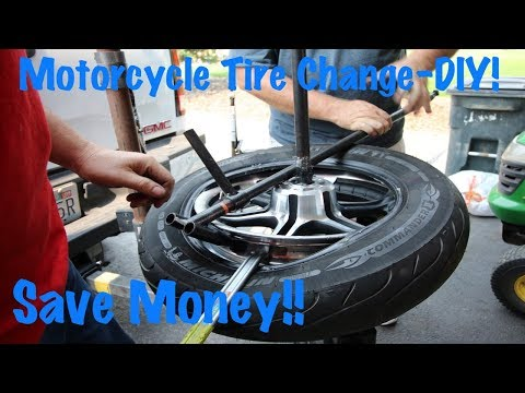 Change Motorcycle Tire & Balance Wheel in Your Garage