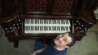 Just having a little fun on a big pump organ...