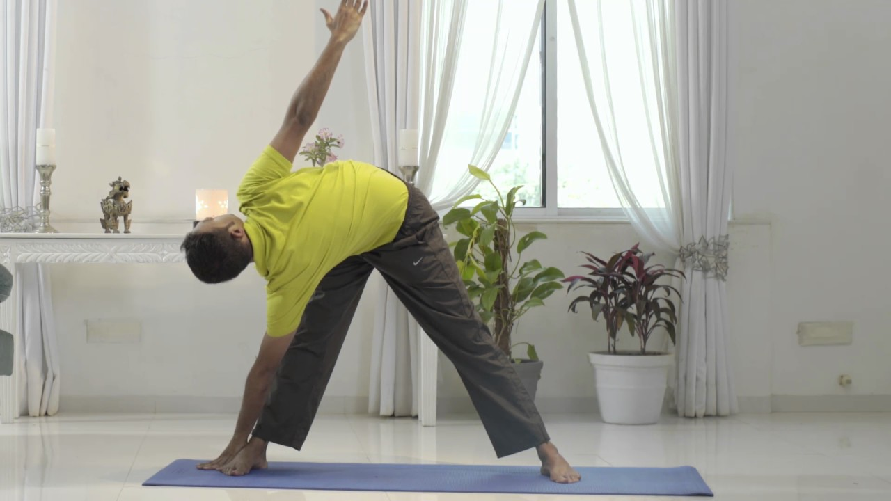 Trikonasana Yoga For Male Infertility By Yoga Specialist Dr N Ganesh Rao Youtube