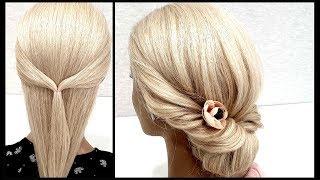 Красивая и быстрая прическа Пошагово Beautiful and fast hairstyle Step by step