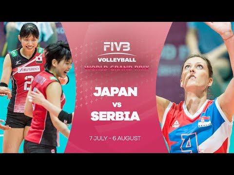 Japan v Serbia highlights - FIVB World Grand Prix