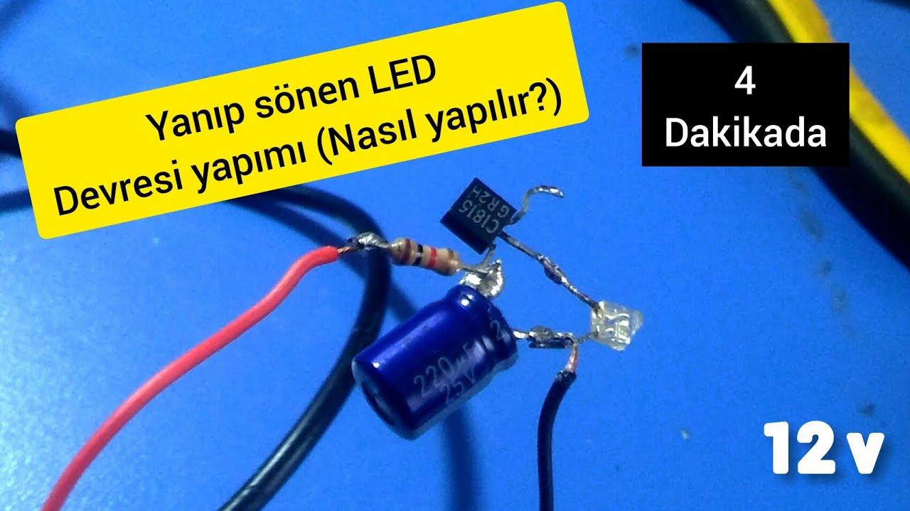 Yanıp sönen LED devresi yapımı (Ayarlanabilir) (Nasıl yapılır?)