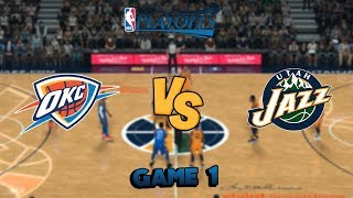 NBA 2K18 - Oklahoma City Thunder vs. Utah Jazz - (Playoff Rematch!) - Full Gameplay